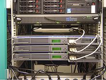 "Answering: ""What is a Web Host"". Here are some Web Hosting servers, rack mounted."