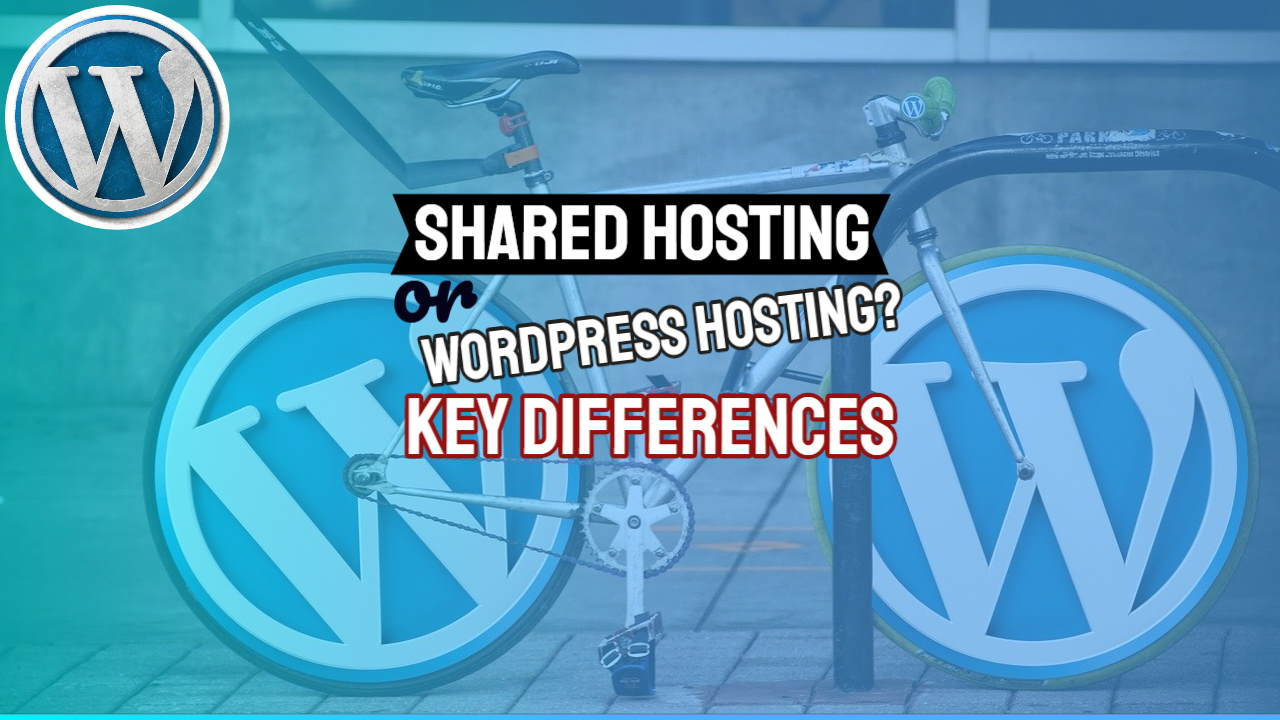"Featured image with text: ""Shared Hosting or WordPress Hosting?"""