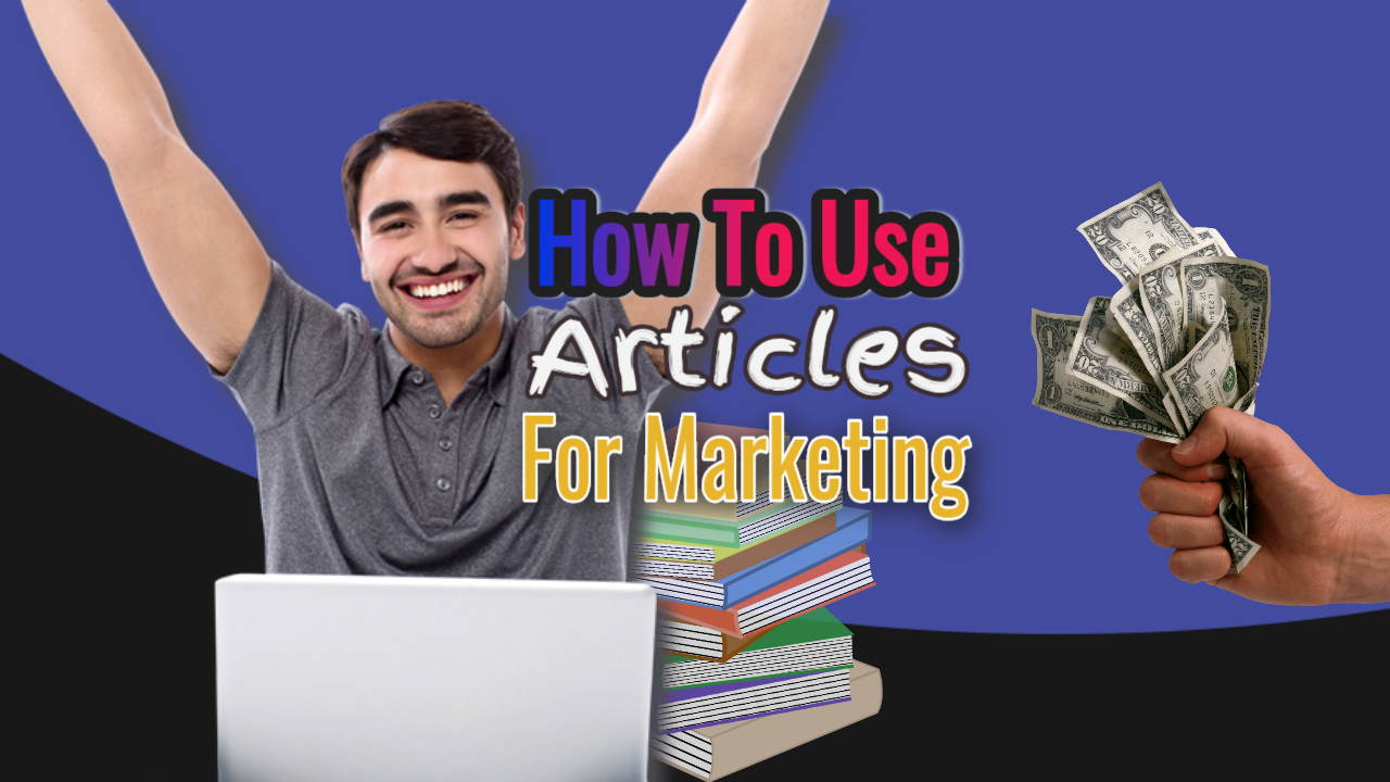 "Image with the text: ""How to use articles for marketing""."