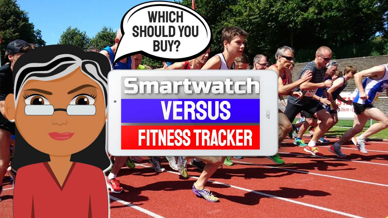 """Featured Image with text: """"Smartwatch versus Fitness Tracker""""."""