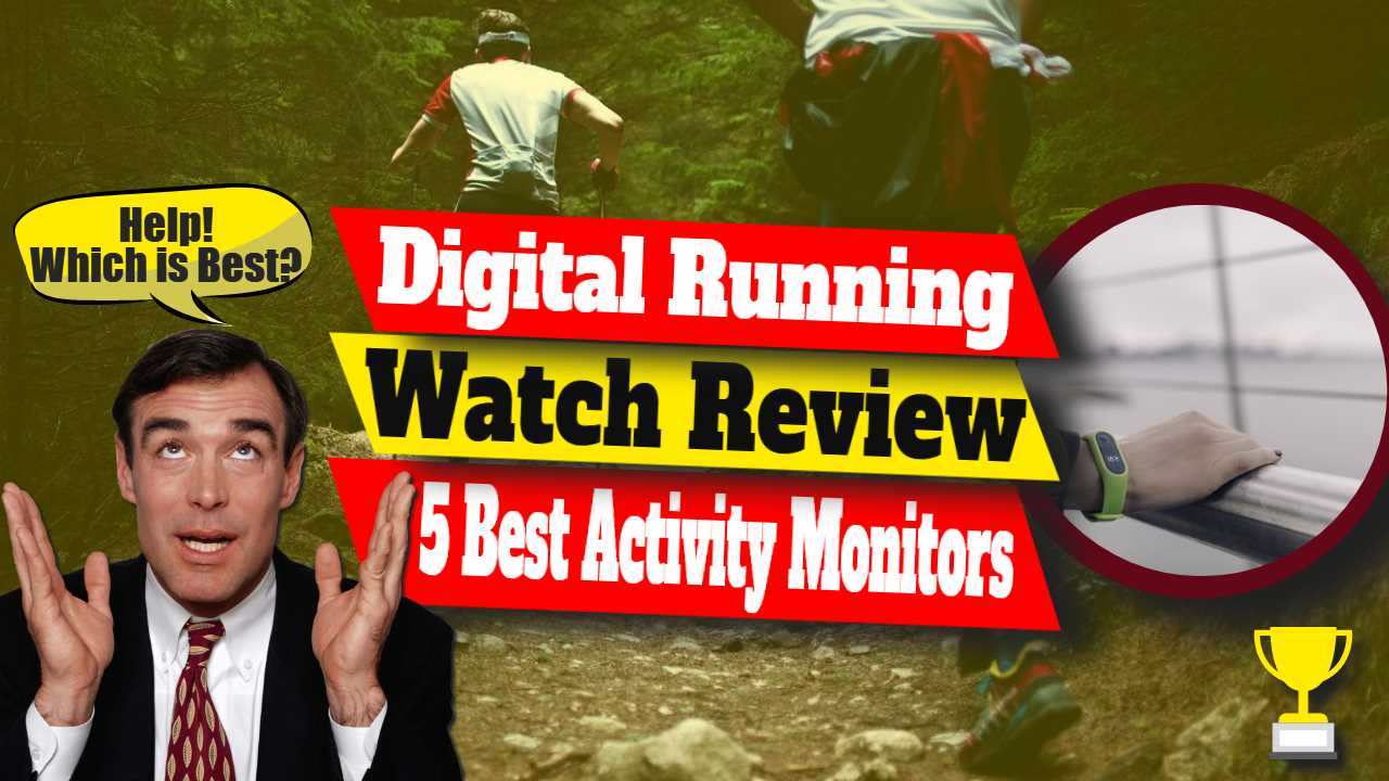 """Image text: """"Digital running watch review""""."""